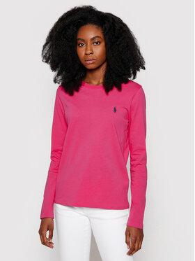 Polo Ralph Lauren Polo Ralph Lauren Bluzka Lsl 211757946025 Różowy Regular Fit