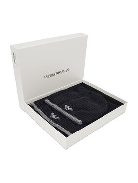 Emporio Armani Emporio Armani Ensemble bonnet + écharpe 628004 CC984 00020 Noir