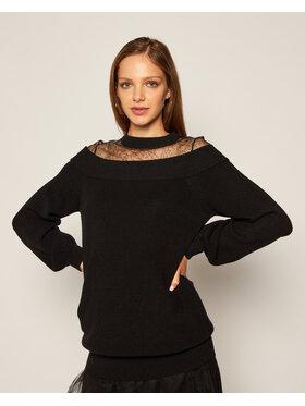My Twin My Twin Sweter 202MP3092 Czarny Oversize