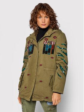 Desigual Desigual Куртка парка Flix 21WWEN03 Зелений Regular Fit