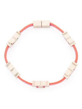 Tory Burch Tory Burch Bransoletka Serif-T Single Wrap Bracelet 61675 Różowy