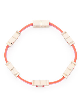 Tory Burch Tory Burch Karkötő Serif-T Single Wrap Bracelet 61675 Rózsaszín