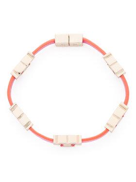 Tory Burch Tory Burch Náramek Serif-T Single Wrap Bracelet 61675 Růžová