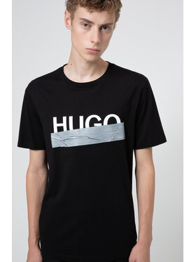 Hugo Hugo T-shirt Dicagolino U204 50436413 Noir Regular Fit