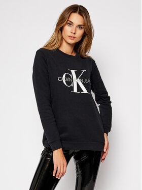 Calvin Klein Jeans Calvin Klein Jeans Mikina Core Monogram Logo J20J207877 Čierna Relaxed Fit