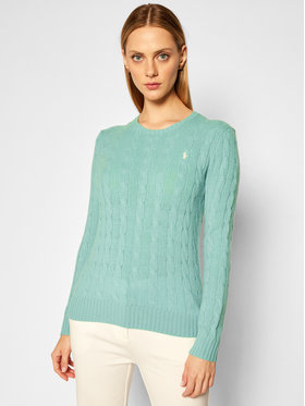 Polo Ralph Lauren Polo Ralph Lauren Sweter Julianna Wool/Cashmere 211525764069 Zielony Straight Fit