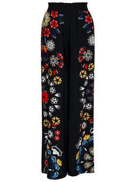 Desigual Desigual Kalhoty z materiálu Chipre 21SWMW26 Černá Loose Fit