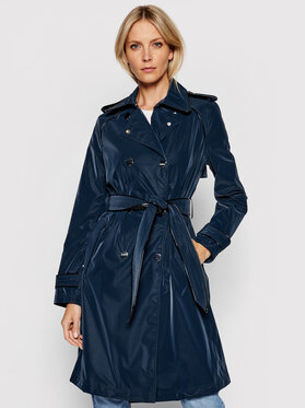 Guess Guess Trench-coat Susan W1YL49 WE0B0 Bleu marine Relaxed Fit