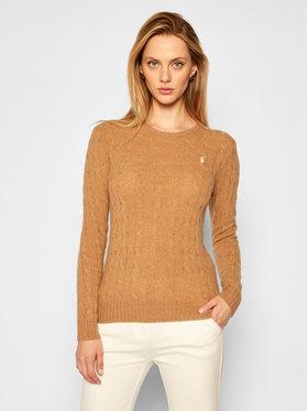 Polo Ralph Lauren Polo Ralph Lauren Sweter Julianna Wool/Cashmere 211525764072 Brązowy Straight Fit