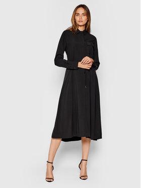 Calvin Klein Calvin Klein Sukienka koszulowa Poplin K20K203103 Czarny Regular Fit
