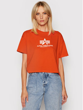 Alpha Industries Alpha Industries Marškinėliai Basic 116050 Raudona Oversize