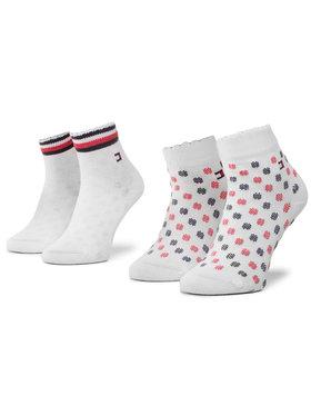 TOMMY HILFIGER TOMMY HILFIGER Σετ ψηλές κάλτσες παιδικές 2 τεμαχίων 320501001 Λευκό