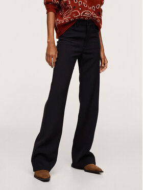 Mango Mango Spodnie materiałowe Retro 17035932 Czarny Regular Fit