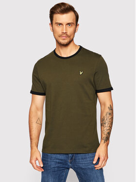 Lyle & Scott Lyle & Scott T-Shirt Ringer TS705VOG Zielony Regular Fit