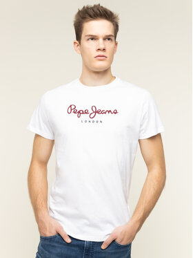 Pepe Jeans Pepe Jeans T-Shirt Eggo PM500465 Weiß Regular Fit