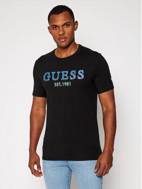 Guess Guess T-Shirt M0BI59 J1300 Czarny Slim Fit