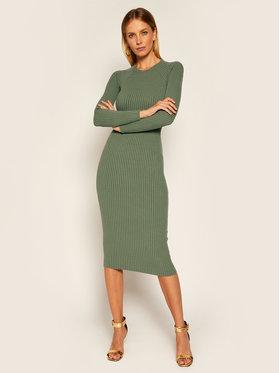 Elisabetta Franchi Elisabetta Franchi Džemper haljina AM-32M-06E2-V369 Zelena Slim Fit