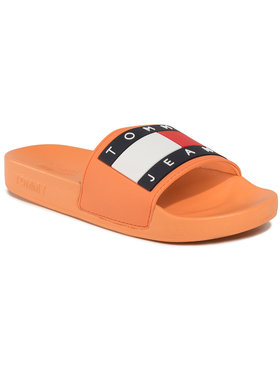 Tommy Jeans Tommy Jeans Pantoletten Flag Pool Slide EN0EN00474 Orange
