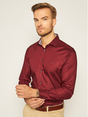Tommy Hilfiger Tailored Tommy Hilfiger Tailored Cămașă Twill TT0TT08326 Vișiniu Slim Fit