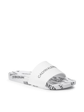 Calvin Klein Jeans Calvin Klein Jeans Klapki Slide Institutional Tpu YM0YM00074 Biały