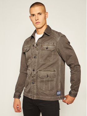 G-Star Raw G-Star Raw Jeansová bunda Utility 4 Pkt D17576-C104-B933 Zelená Straight Fit