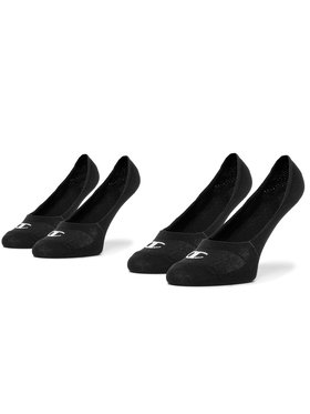 Champion Champion Σετ 2 ζευγάρια κάλτσες σοσόνια unisex CH0008QK 8VA Μαύρο