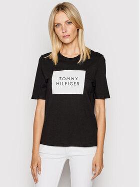 Tommy Hilfiger Tommy Hilfiger T-Shirt Box C-Nk WW0WW30986 Černá Regular Fit