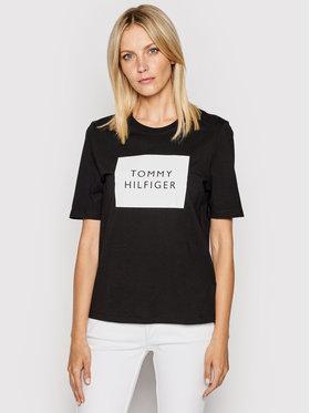 Tommy Hilfiger Tommy Hilfiger T-shirt Box C-Nk WW0WW30986 Nero Regular Fit