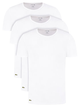 Lacoste Lacoste Súprava 3 tričiek TH3451 Biela Regular Fit