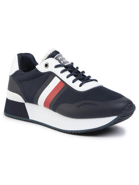 TOMMY HILFIGER TOMMY HILFIGER Laisvalaikio batai Tommy Mesh City Sneaker FW0FW04606 Tamsiai mėlyna