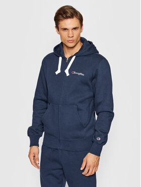Champion Champion Sweatshirt Blend Small Script Logo Zip-Up 216477 Bleu marine Custom Fit