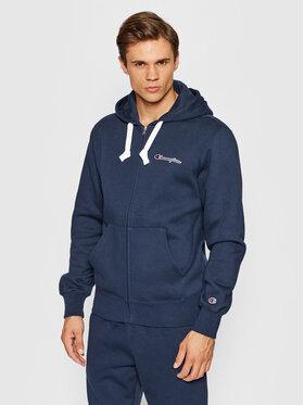 Champion Champion Sweatshirt Blend Small Script Logo Zip-Up 216477 Dunkelblau Custom Fit
