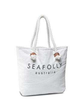 Seafolly Seafolly Σάκος Ship Sail Tote 71147-BG Λευκό