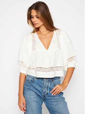Pepe Jeans Pepe Jeans Blusa Sophie PL303744 Bianco Oversize