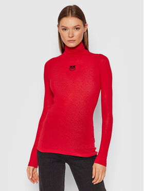 Pinko Pinko Pull à col roulé Abdaly Dolcevita 1G16TG Y7D2 Rouge Slim Fit