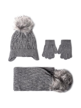Mayoral Mayoral Комплект шапка, шал и ръкавици 10701 Сив