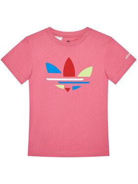 adidas adidas T-Shirt adicolor H32347 Różowy Regular Fit