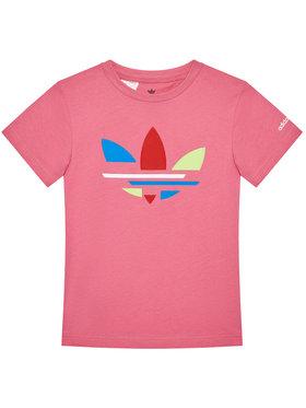 adidas adidas T-shirt adicolor H32347 Ružičasta Regular Fit