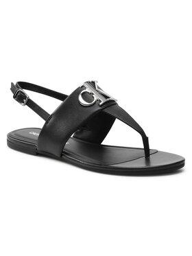 Calvin Klein Jeans Calvin Klein Jeans Sandále Flat Sandal Hw Lth YW0YW00145 Čierna
