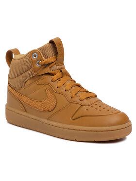 Nike Nike Обувки Court Borough Mid 2 Boot (GS) BQ5440 700 Кафяв