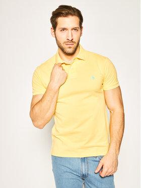 Polo Ralph Lauren Polo Ralph Lauren Тениска с яка и копчета Core Replen 710795080 Жълт Slim Fit