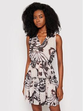 Trussardi Trussardi Sukienka koktajlowa Fil Coupe Butterfly Print 56D00527 Brązowy Regular Fit
