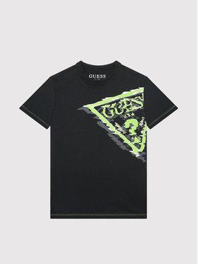 Guess Guess Marškinėliai L1YI09 K8HM0 Juoda Regular Fit