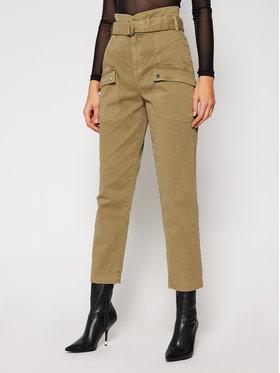 Guess Guess Kalhoty z materiálu W0BB05 W5DXQ Zelená Relaxed Fit
