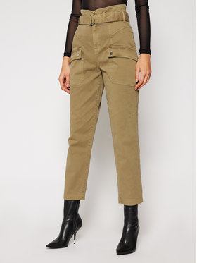 Guess Guess Pantalon en tissu W0BB05 W5DXQ Vert Relaxed Fit