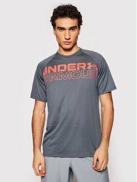 Under Armour Under Armour Тениска от техническо трико Wordmark 1361702 Сив Loose Fit
