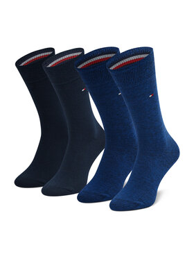 Tommy Hilfiger Tommy Hilfiger Set de 2 perechi de șosete lungi pentru bărbați 371111 Bleumarin