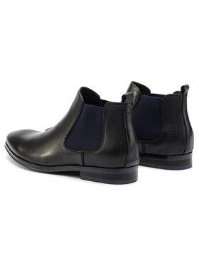 Digel Digel Kotníková obuv s elastickým prvkem Stetson 1001953 Černá