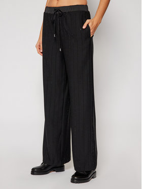 Guess Guess Pantalon en tissu W0BB85 WDEL0 Noir Regular Fit