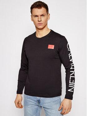 Calvin Klein Calvin Klein Hosszú ujjú Text Reversed Logo K10K106492 Fekete Regular Fit